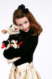 Pretty girl with stuffed animal Royalty Free Stock Image