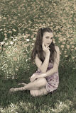 Pretty girl. Summer. Royalty Free Stock Photos