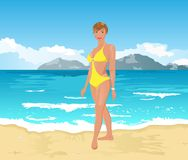 Pretty girl on summer background Royalty Free Stock Photography