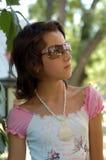 Pretty girl in sunglasses Stock Image
