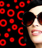 Pretty girl with sunglasses Stock Photography