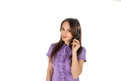 Pretty girl  from support service Stock Photography