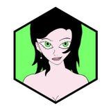 Pretty girl symbol Royalty Free Stock Photos