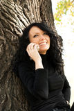 Pretty Girl Talking On The Cellphone Royalty Free Stock Photography