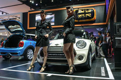 Pretty girl in the 36th Bangkok International Motor Show 2015 Stock Photos
