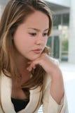 Pretty girl thinking Royalty Free Stock Image
