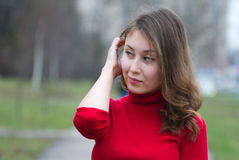 Pretty girl thinking Royalty Free Stock Images
