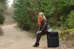 Pretty girl traveling Royalty Free Stock Image
