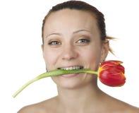Pretty girl tulip Royalty Free Stock Photography
