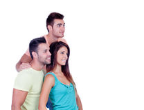Pretty girl with two handsome boys Stock Images