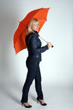 Pretty girl with an umbrella Royalty Free Stock Photography