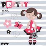 Pretty girl vector illustration Stock Images