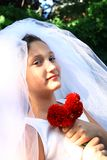 Pretty girl with veil Royalty Free Stock Image