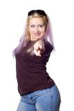 Pretty girl with violet hair Royalty Free Stock Photos