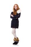 Pretty girl in warm clothes Stock Photos