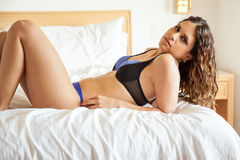 Pretty girl wearing lingerie Royalty Free Stock Images