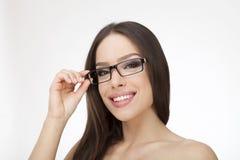 Pretty girl wearing stylish eyeglasses Stock Image