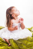 Pretty girl in white stock photos