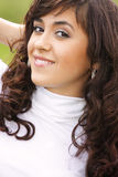 Pretty girl in white Royalty Free Stock Images