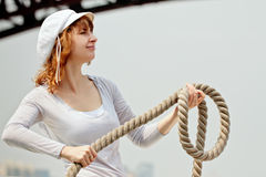 Free Pretty Girl With A Rope Stock Photography - 25182532