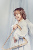 Pretty Girl With Wings, Christmas Royalty Free Stock Images