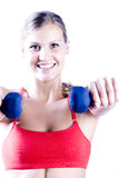 Pretty girl working out Royalty Free Stock Image