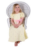 Pretty girl in yellow dress royalty free stock image