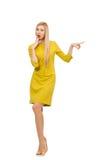 Pretty girl in yellow dress Stock Photo