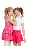 Pretty girlfriends sharing a secret Royalty Free Stock Image