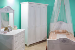 Pretty girlish room for little princess royalty free stock image