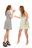 Pretty girls arguing about trifles Royalty Free Stock Photos