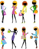Pretty girls with bags Stock Photo
