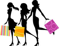Pretty girls with bags Stock Photos