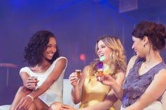 Pretty girls celebrating Stock Image