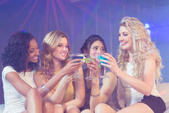 Pretty girls with cocktails Royalty Free Stock Photo
