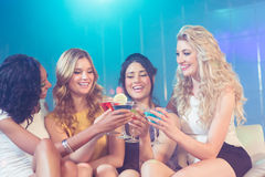 Pretty girls with cocktails Royalty Free Stock Images