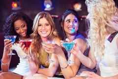Pretty girls with cocktails Royalty Free Stock Image