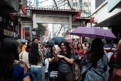 Pretty Girls Everywhere. Celebrating Chinese New Year in Binondo Manila Stock Photos