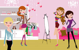Pretty girls fashion life Stock Photography