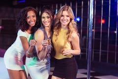 Pretty girls having shots Stock Photo