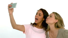 Pretty girls taking a selfie stock footage