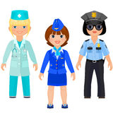 Pretty girls in uniform Royalty Free Stock Photography