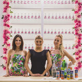 Pretty girsl at Tuttofood 2015 in Milan, Italy Stock Images