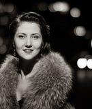 Pretty glamorous lady portrait Stock Images