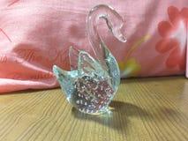 Pretty glass swan Stock Photo