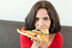 Pretty gluttony Royalty Free Stock Photo