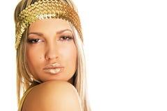 Pretty golden girl Stock Photos