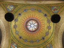 Free Pretty Golden Tiled Artwork In The Church Stock Images - 115128774