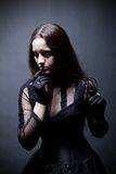Pretty gothic girl. In corset Royalty Free Stock Photography