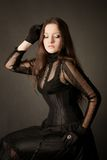 Pretty gothic girl Royalty Free Stock Images